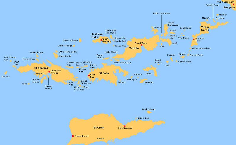 Karte, Stadtplan Jost Van Dyke - ViaMichelin